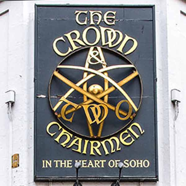 The Crown & Two Chairman pub sign