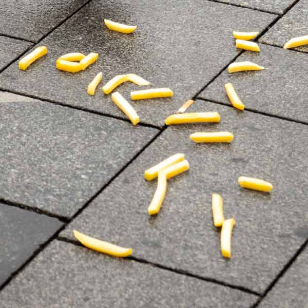Chips on the floor