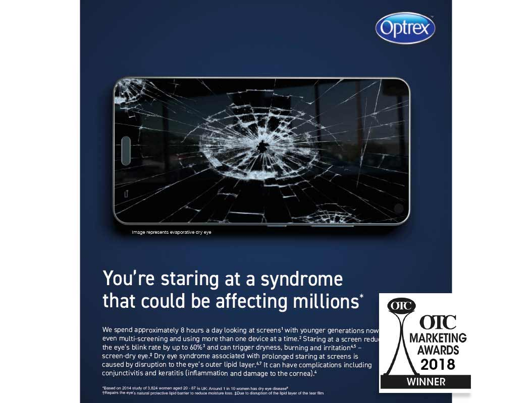Optrex screen dry eye campaign strategy