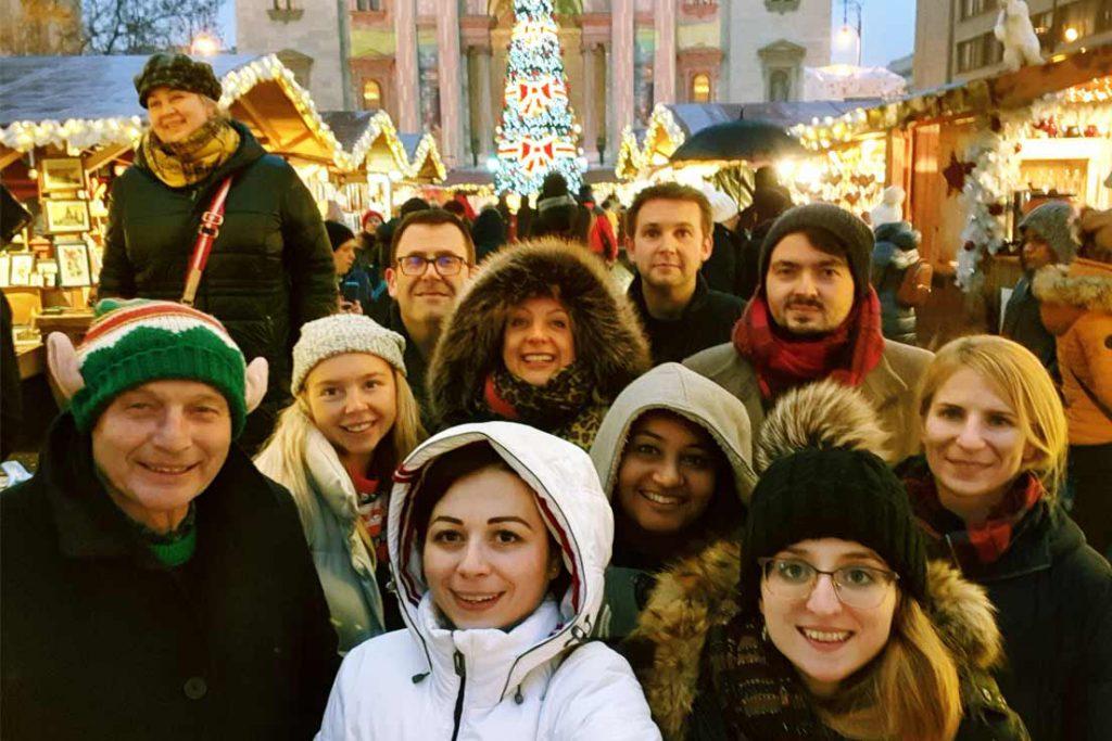 Budapest Christmas market group photo