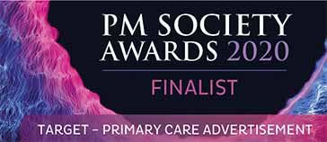 PM Society Awards 2020 finalist - Target: Primary Care Advertisement