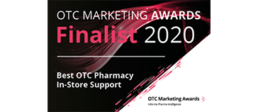 OTC Marketing Awards Finalist 2020 - Best OTC Pharmacy In-Store Support