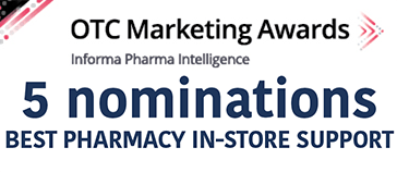 OTC Marketing Awards 2020 - 5 nominations - Best Pharmacy In-Store Support