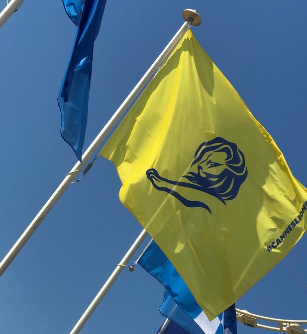 Cannes Lions festival flag