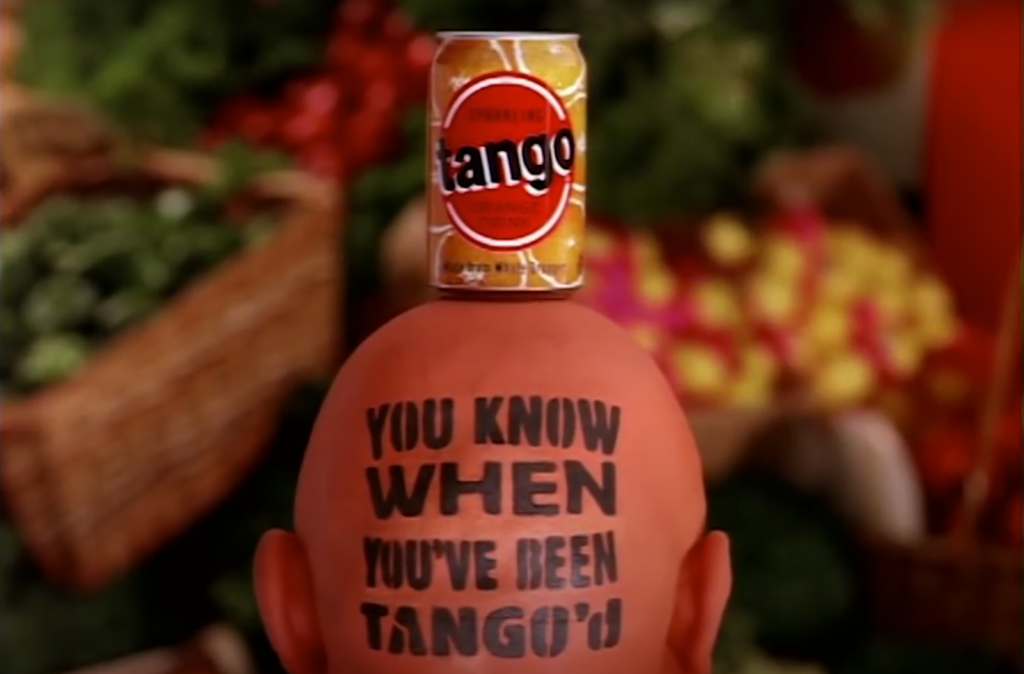 "Screenshot from the TV ad ""Orange Man"" by Tango"