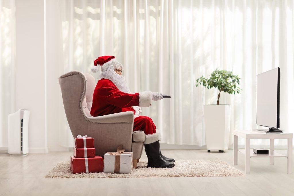 Santa Claus watching TV Best Christmas Advert of 2020